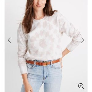 Madewell Tie Dye Crop Sweatshirt NWT Sz L